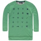 Groene sweater met pictogrammen - montain green mannix