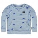Lichtblauwe melée sweater  - Nander