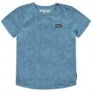 Blauwe t-shirt met fietsen - naret