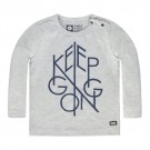 Ecru melange t-shirt - Keep going - ecru melange North
