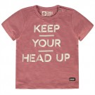 Terracottakleurige t-shirt keep your head up - noy