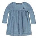 Jeanskleurig kleedje met lange mouwen - denim medium peace - maat 98 (Geboortelijst Fran V.L.)