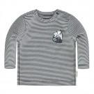 Donkerblauw gestreepte t-shirt met melkbrik - salva - maat 50 (Geboortelijst ...)