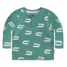 Groene t-shirt lange mouwen met krokodillen - sill