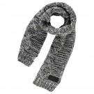 Zwart- witte zachte sjaal - Pietro grey melange (Geboortelijst Mathis H.)