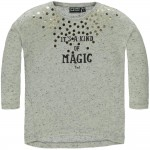 Grijs gespikkelde t-shirt it's a kind of magic - Hillary girls 8 cloud dancer