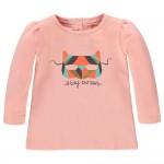 Koraalkleurige t-shirt met masker - Chena peach pearl