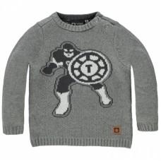 Grijze trui met superheld - Phinian grey melange