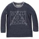 Jeanskleurige t-shirt - solid as a rock Prestan : maat 62 - maat 62 (Geboortelijst Eli V.)