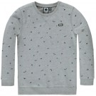 Zachte grijze sweater met figuurtjes - light grey melange beppo - maat 98 (Geboortelijst Nova L.)