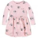 Oud roze kleedje met vliegen - silver pink Genna - maat 74 (Geboortelijst Minne H.)