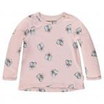 Oud roze t-shirtje met vliegen - Silver pink Gita