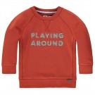 Roestbruine sweater playing around - cadmian terracotta - maat 68 (Geboortelijst Mathis H.)