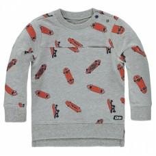Grijze sweater met skateboarden - light grey melange cullin