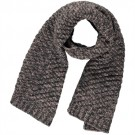Sjaal antraciet met lichtroos pijltjes motief - Felja
