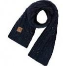 Donkerblauwe sjaal met spikkels- Cavin kings blue