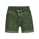 Kaki shortje met tijgerprint - Toland vineyard green