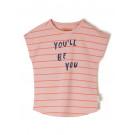 Roos gestreepte t-shirt - Peachskin maro