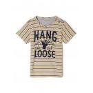 Beige gestreepte t-shirt chill - Tijk moonstruck