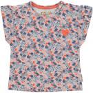 T-shirt met bloemetjes - Margot snow white