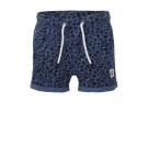 Blauw shortje met panterprint - Tobe bijou blue
