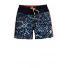 Donkerblauwe zwemshort met print - Gommel limoges