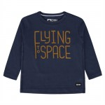 Donkerblauwe t-shirt flying tot space - Khani (stapelkorting)