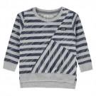 Grijs - blauw gestreepte sweater - Kuper