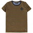 Okergele met zwart gestreepte shirt - odd mustard yellow - maat 98 (Geboortelijst Gust D.M.)