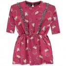 Frambooskleurig kleedje met maki's - Tamaki