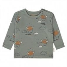 Kaki kleurig shirtje met vikings - Xavi  - maat 56 (Geboortelijst Mon V.)