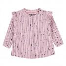 Oud roze shirtje met stipjes en lijnen - zella - maat 62 (Geboortelijst Oona M.)