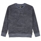 Grijsblauwe trui met patroon - Otger  (stapelkorting)