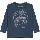 Donkerblauwe t-shirt freedom - Symen hale navy