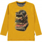 Gele t-shirt met auto's - Valen golden rod