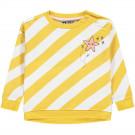 Geel/wit diagonaal gestreepte sweater - Jonne yolk yellow