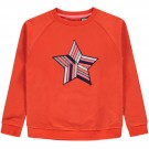 Rood/oranje sweater met ster -  Kamala cherry tomato