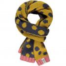Donkergrijze sjaal met gele stippen - Jetta yolk yellow