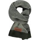 Kaki sjaal met wit  - Sid/Harmen dark cedar
