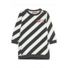 Grijs/wit gestreept sweaterjurkje - Ebony jarian dress