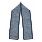 Blauwe sjaal met wit  - Solon hale navy